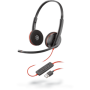 209745-201 Plantronics Blackwire 3220 USB A cuffie biaurali con cavo rosso USB A