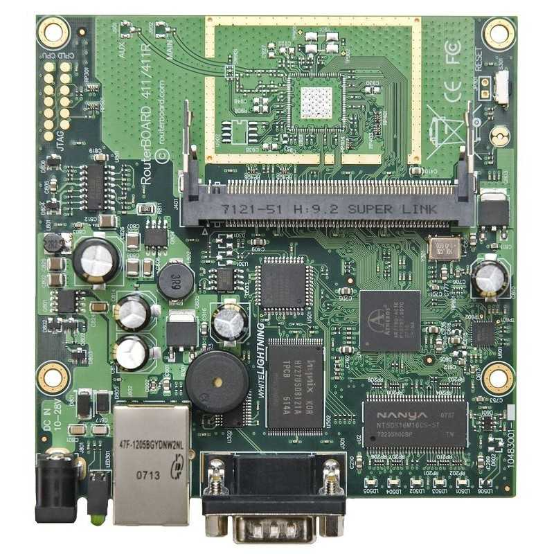 MikroTik RouterBOARD 911G with 600Mhz Atheros CPU, 32MB RAM, 1xGigabit LAN, built-in 2.4Ghz