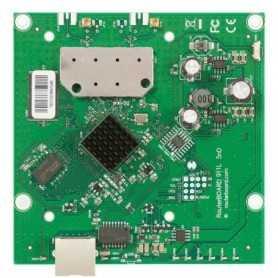 RB912UAG-2HPnD MikroTik RouterBOARD 912UAG with 600Mhz Atheros CPU, 64MB RAM, 1xGigabit LAN, USB, miniPCIe